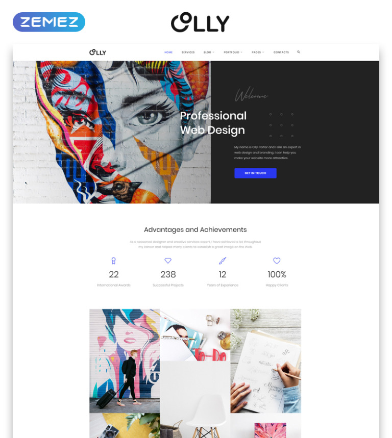 Olly - Advertising Agency Multipage HTML5 Website Template