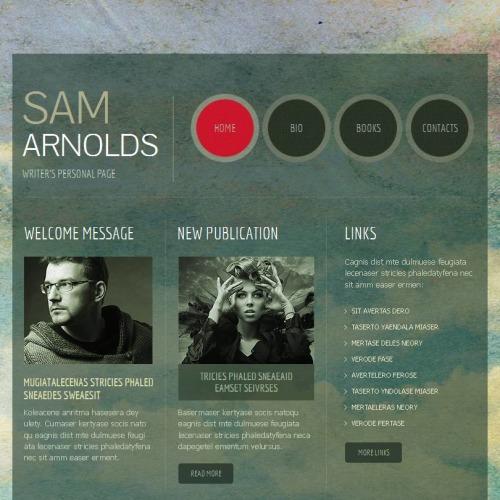 Sam Arnolds - Facebook HTML CMS Template