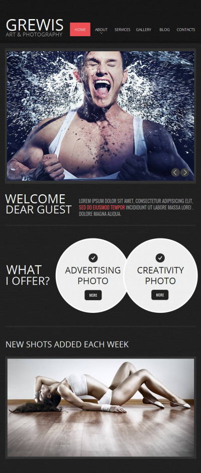 Photo Studio Facebook HTML CMS Template #44869