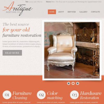 Plantilla Facebook HTML CMS #44878 para Sitio de  para Tienda de Antigüedades