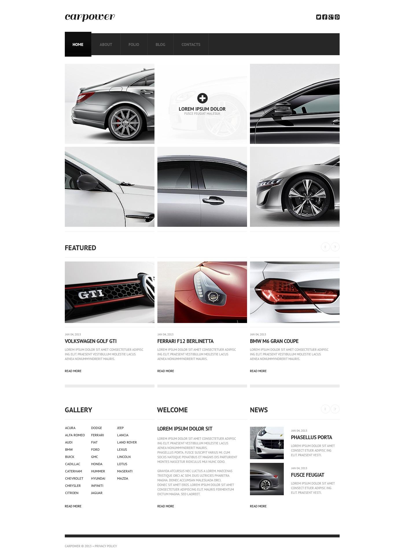 Plantilla Web #44822 para Sitio de Repuestos de coches