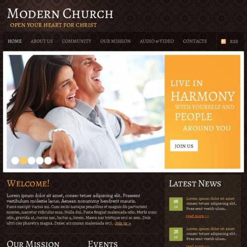 Modern Church - Facebook HTML CMS Template