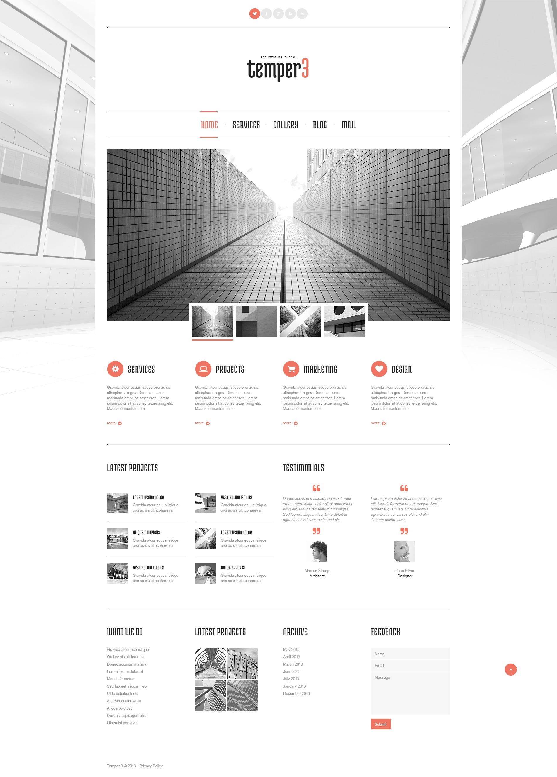 Responsive Architecture Designs Wordpress #44815 - Ekran resmi