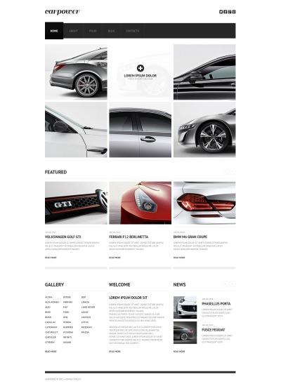 Responsive Website Vorlage für Autoteile