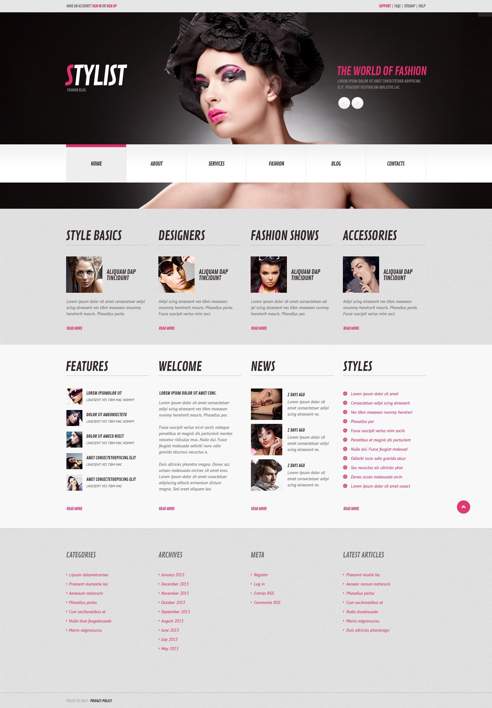 Responsives WordPress Theme für Modellagentur #44820 - Screenshot
