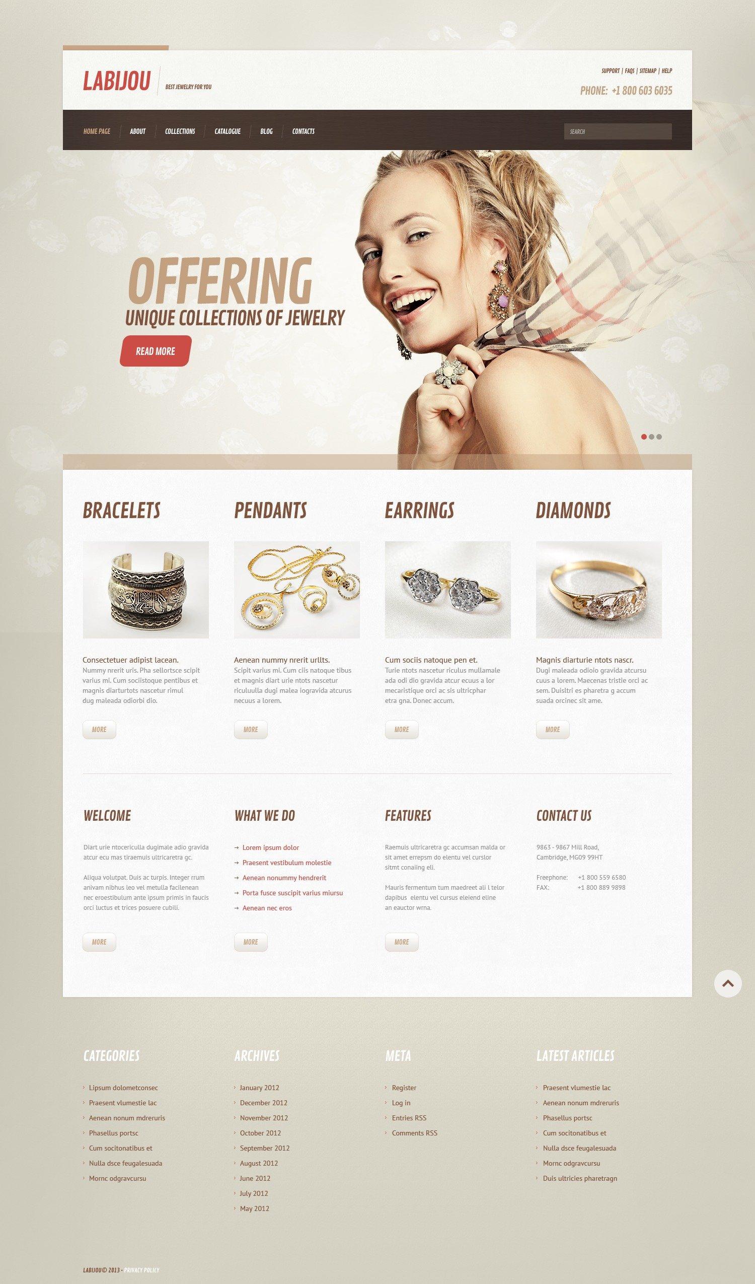 WordPress Themes für Schmuckwaren