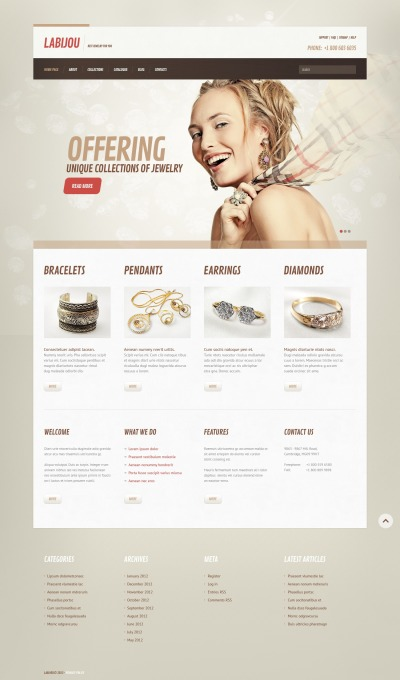 Jewelry Responsive WordPress Motiv