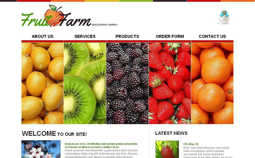 Template Moto CMS HTML para Sites de Frutas №44865 New Screenshots BIG