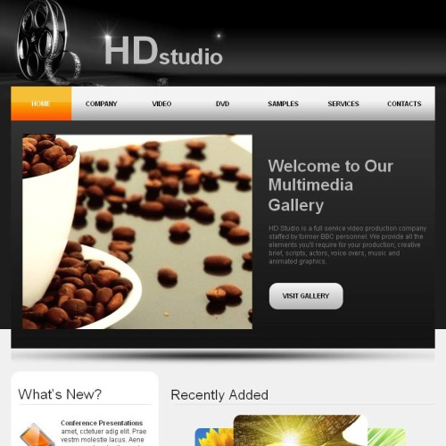 HD Studio - Facebook HTML CMS Template