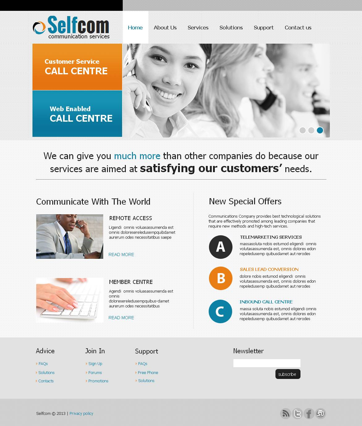 VOIP Moto CMS HTML Template