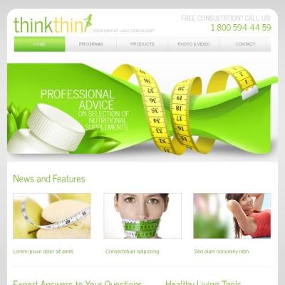 Weight Loss Facebook Html Cms Template 44870