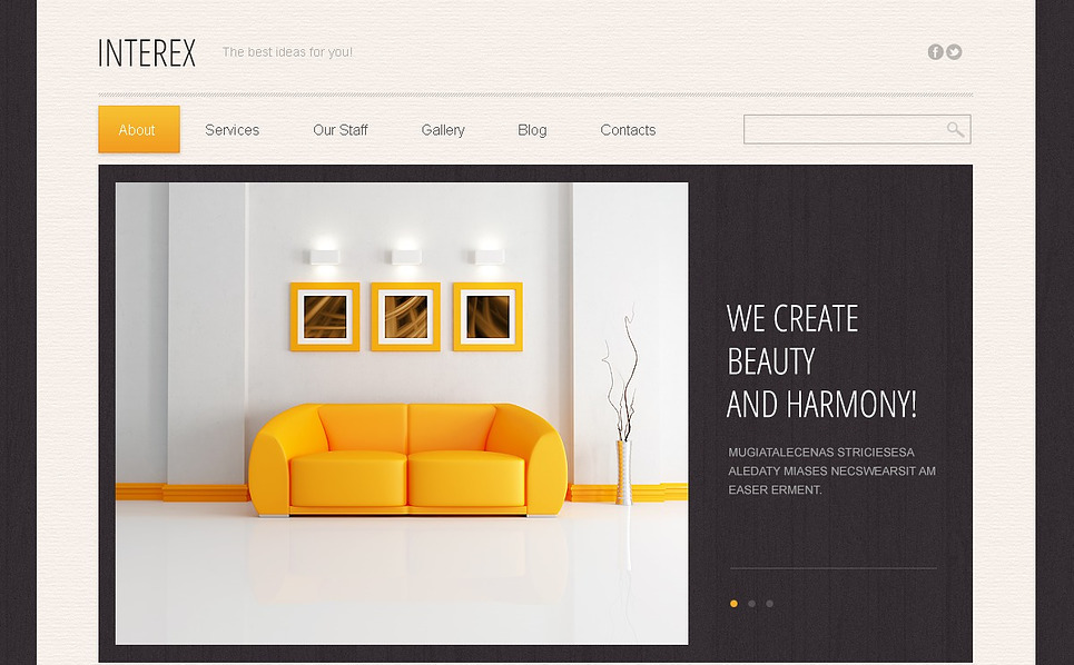 Template Drupal Flexível para Sites de Design Interior №44907 New Screenshots BIG