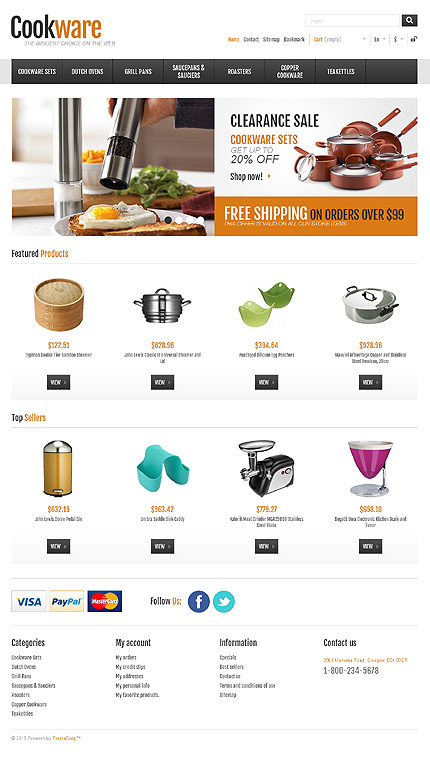 ADOBE Photoshop Template 44909 Home Page Screenshot