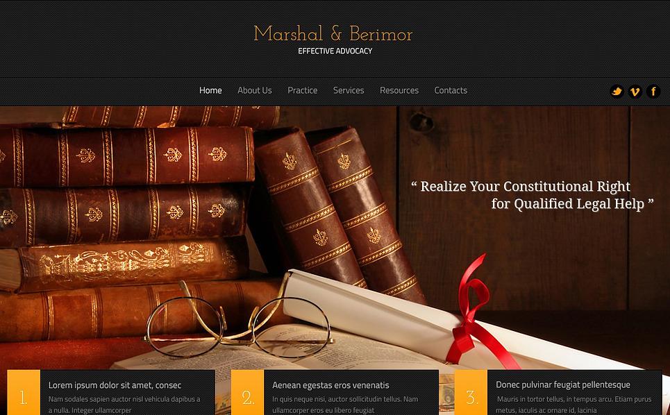 Bootstrap Ügyvédi Irodák Weboldal sablon New Screenshots BIG