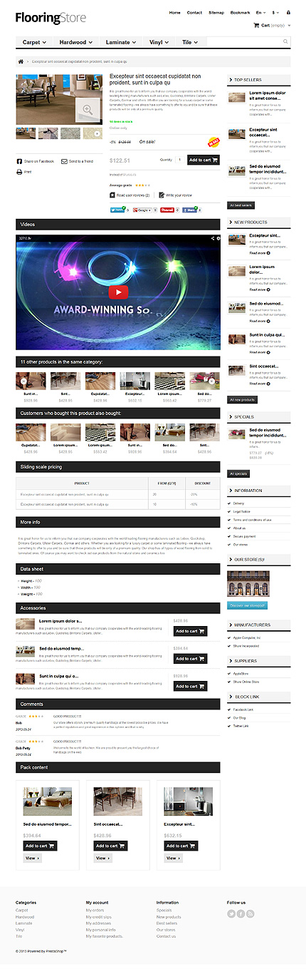 ADOBE Photoshop Template 44919 Home Page Screenshot
