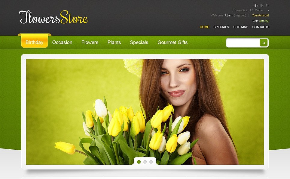 Tema PrestaShop  #44922 per Un Sito di Negozio di Fiori New Screenshots BIG