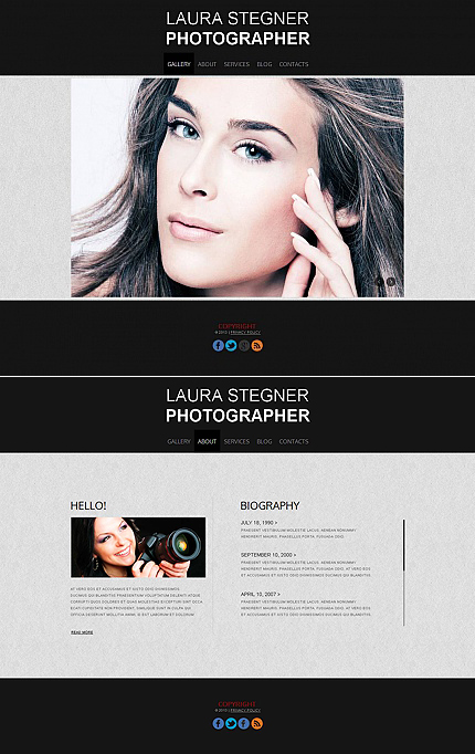ADOBE Photoshop Template 44928 Home Page Screenshot