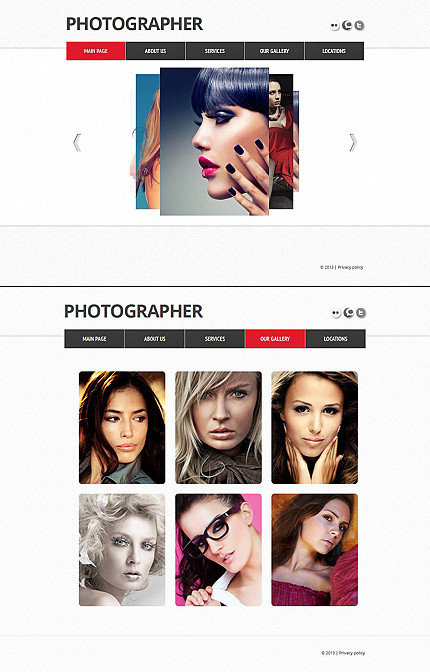 ADOBE Photoshop Template 44930 Home Page Screenshot