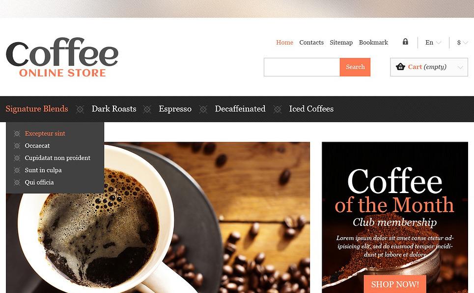 Responsywny szablon PrestaShop #44940 na temat: sklep z kawą New Screenshots BIG