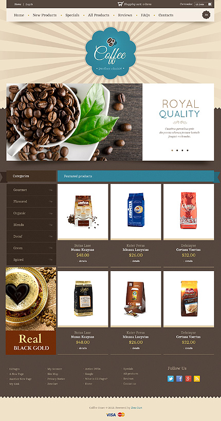 ZenCart Template 44944 Main Page Screenshot