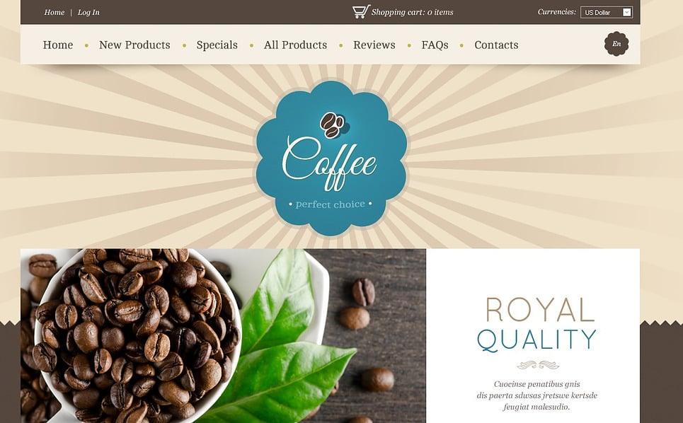 Kávébolt  ZenCart sablon New Screenshots BIG