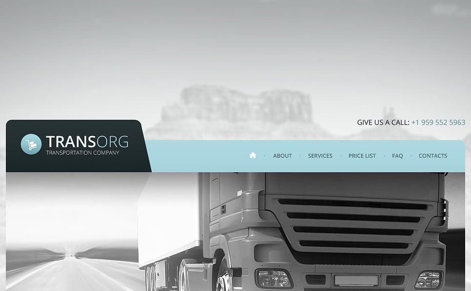Bootstrap Šablona webových stránek na téma Přeprava, Doprava New Screenshots BIG