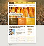 Agriculture Website  Template 44975