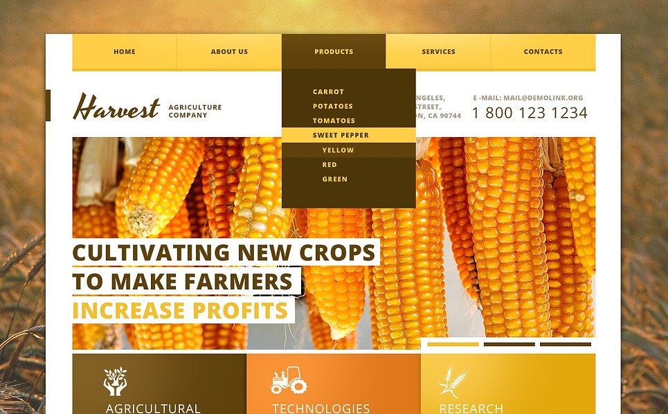 Template Web Flexível para Sites de Agricultura №44975 New Screenshots BIG