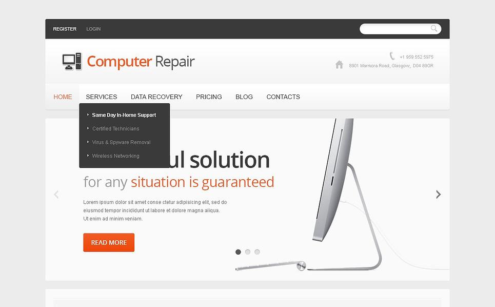 Responzivní Joomla šablona na téma Počítačové opravy New Screenshots BIG