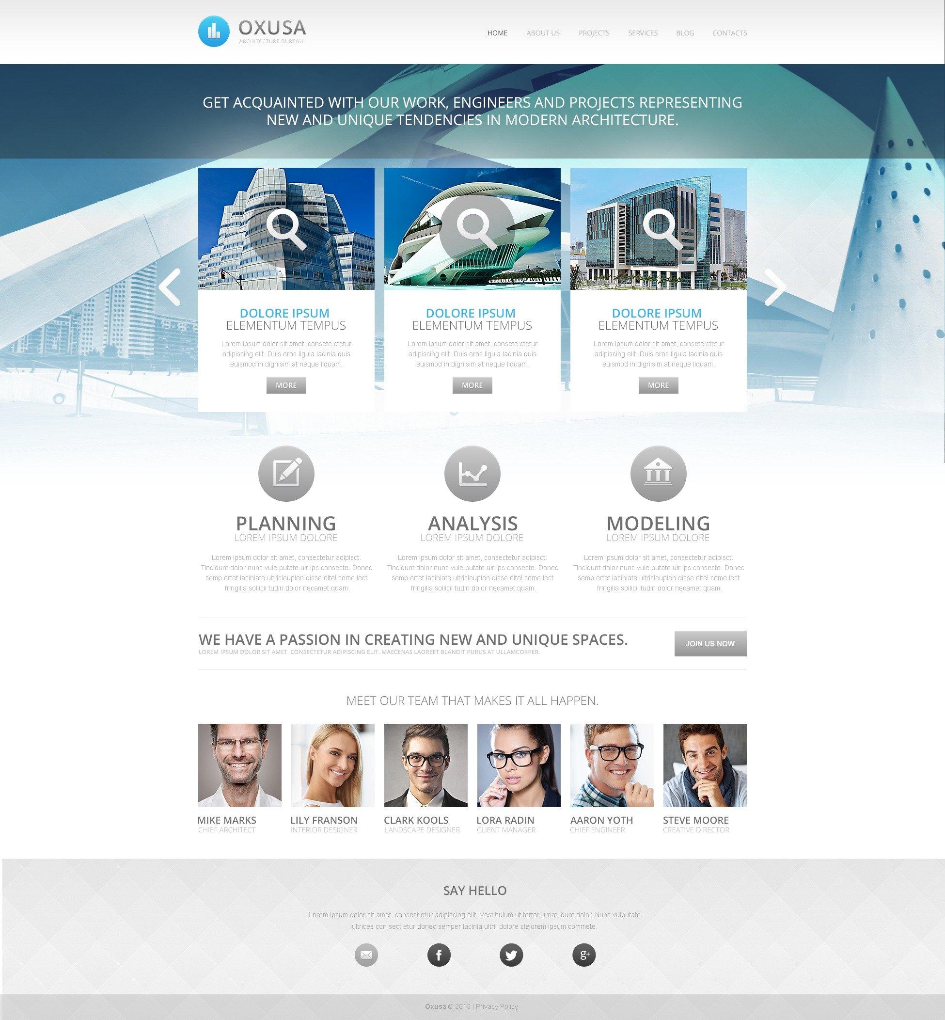 Architecture Company Drupal Template - screenshot