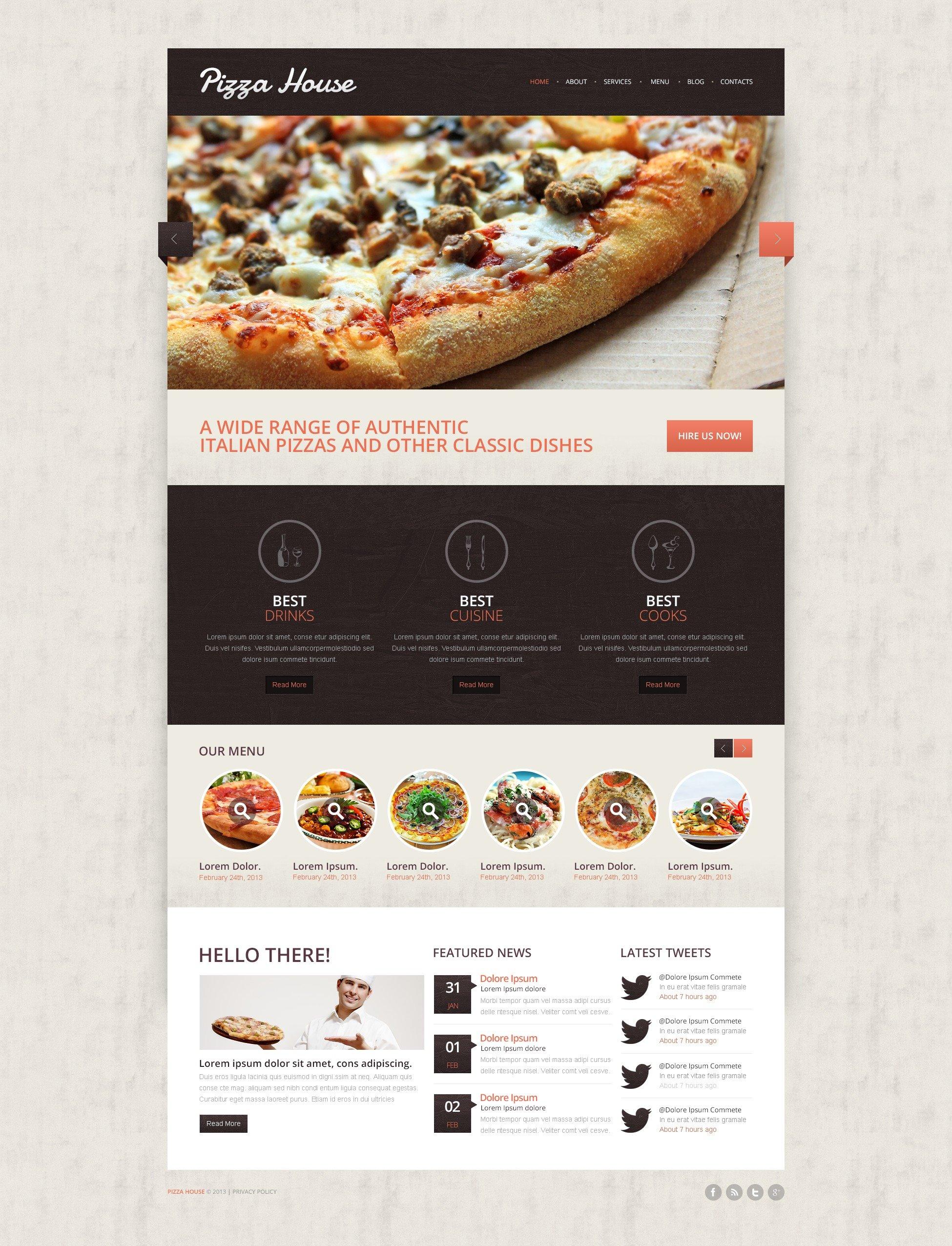 Contrast Pizza Drupal Template - screenshot