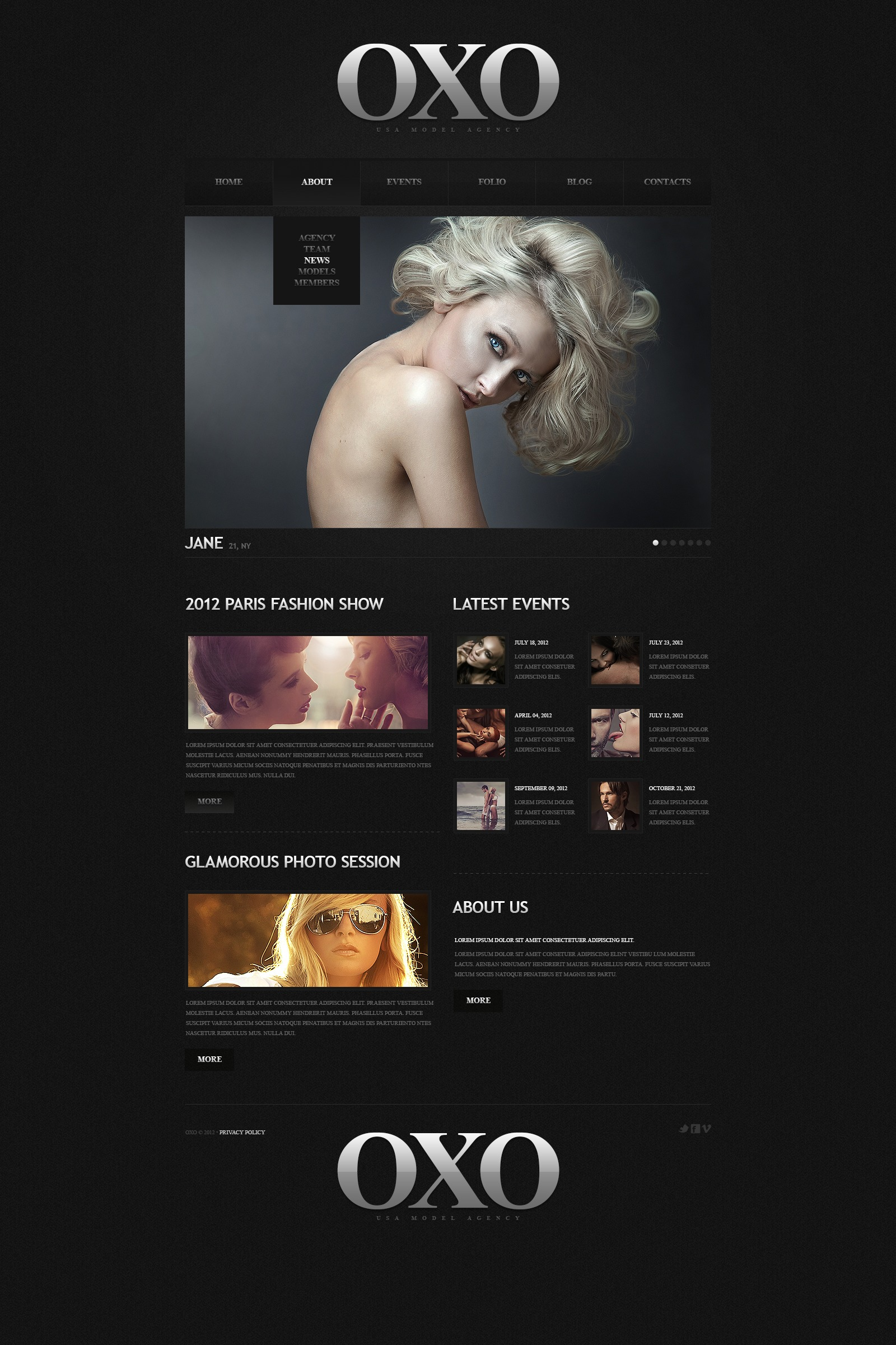 fashion model portfolio joomla template 44996. Black Bedroom Furniture Sets. Home Design Ideas