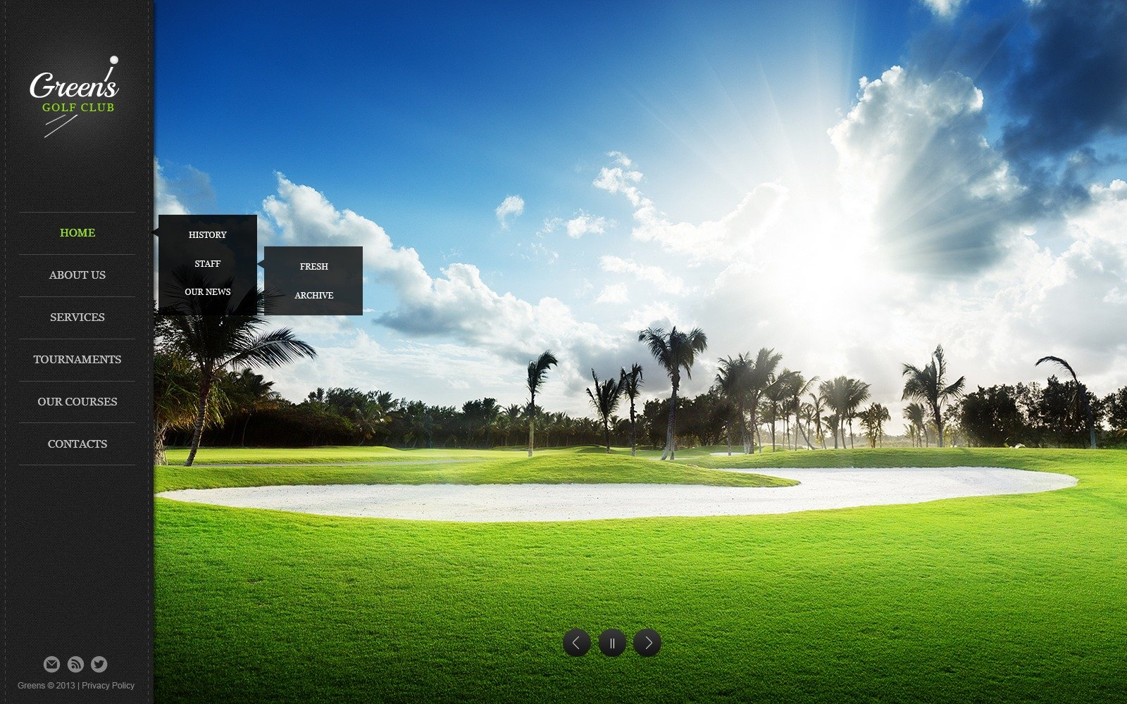 Golf Website Template 44960
