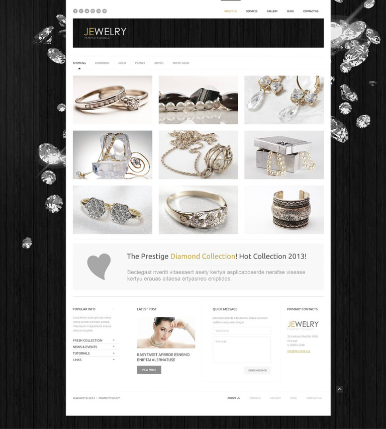 9 Jewelry Blog Themes & Templates