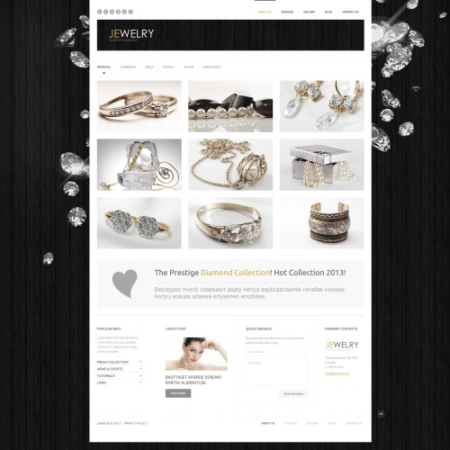 Jewelry - WordPress Template based on Bootstrap