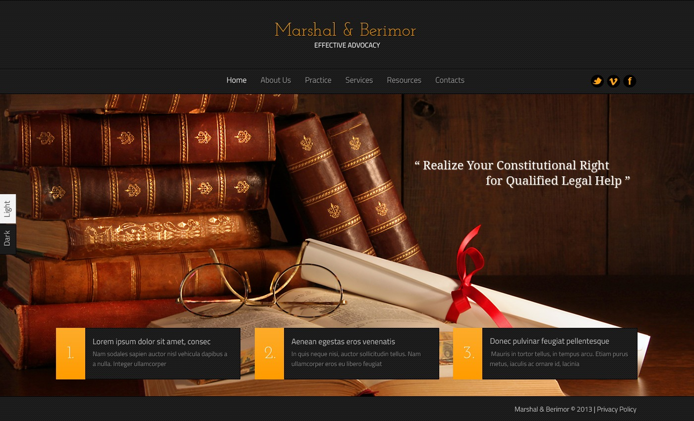 law firm website template 44916