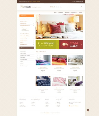 Linen for Perfect Sleep OpenCart Template