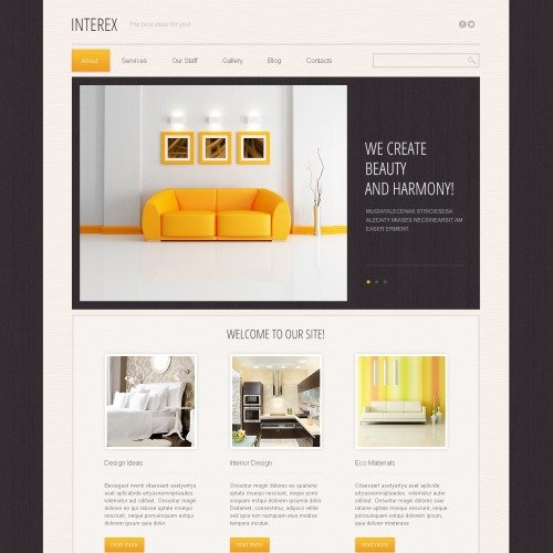 Interex - Responsive Furniture Drupal Template