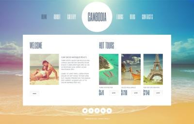 Plantilla Web #44965 para Sitio de  para Sitio de Agencias de viajes