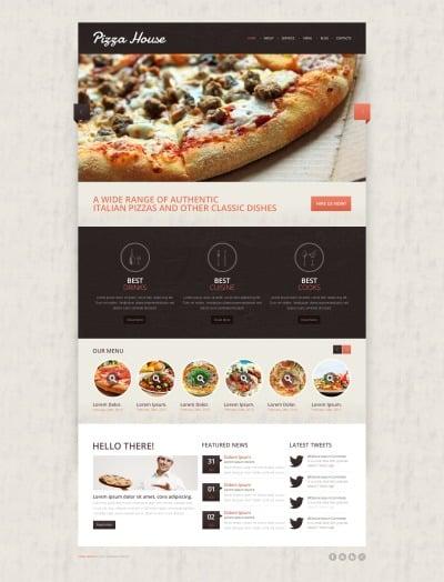 Pizza Responsive Drupal Şablonu