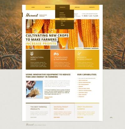 Responsywny szablon strony www #44975 na temat: rolnictwo