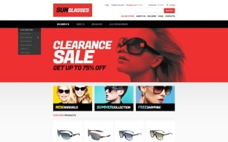 Sunglasses Store VirtueMart Template