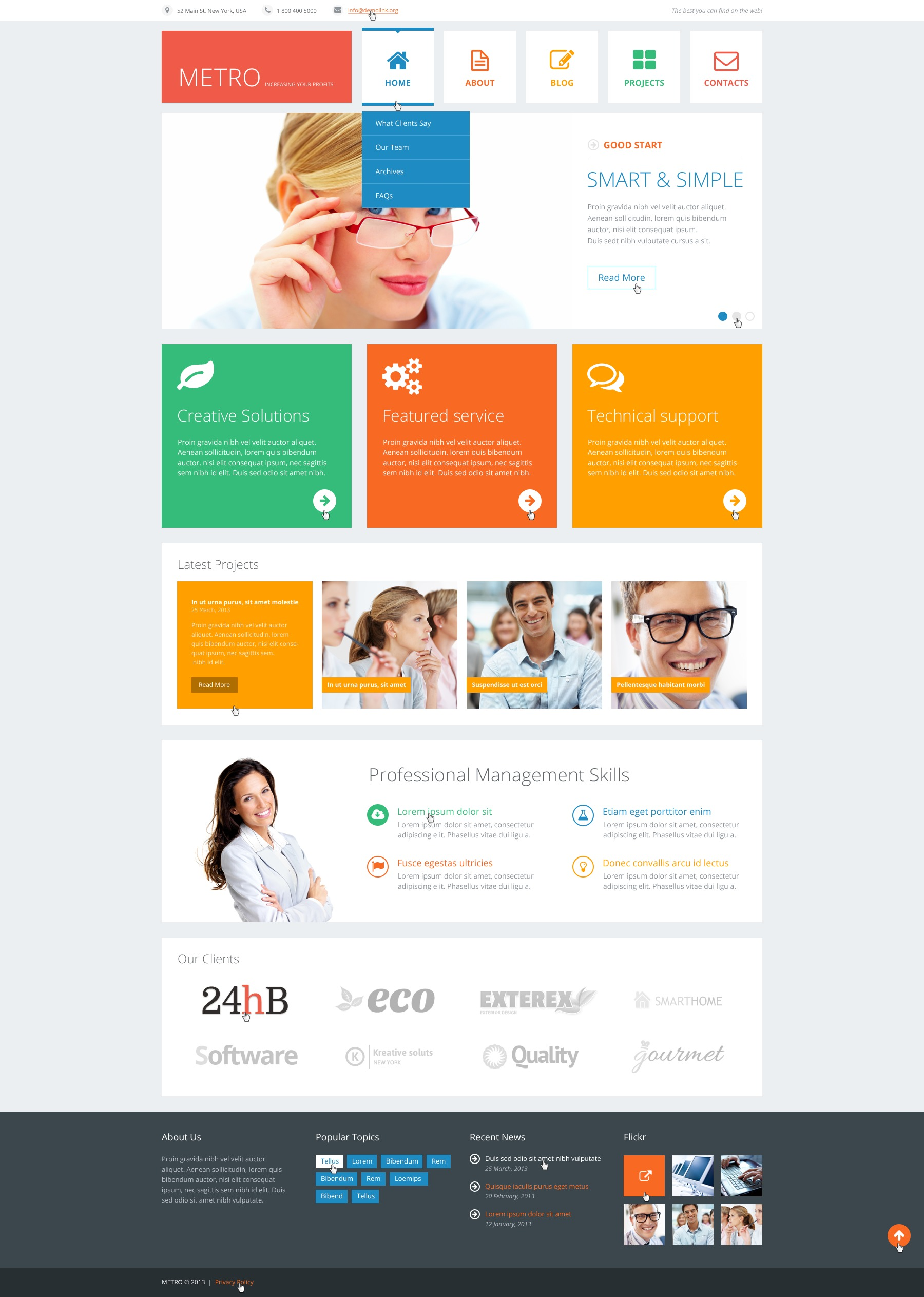"Tema De WordPress ""Flat Consulting"" #44910 - captura de pantalla"