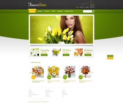 Tema PrestaShop  №44922 para Sites de Floricultura