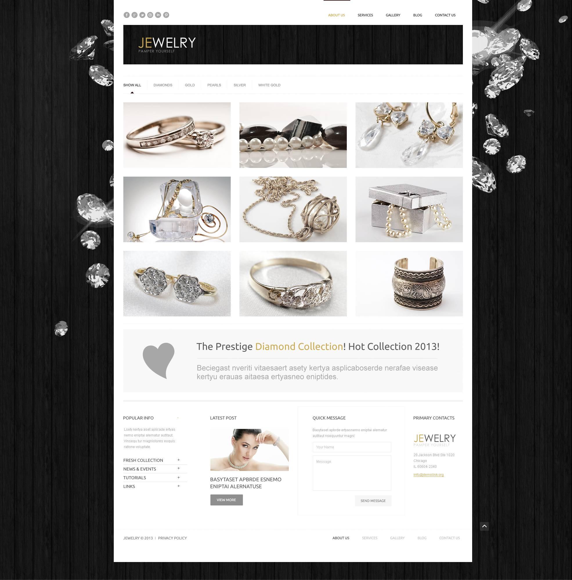 Thème WordPress adaptatif pour site de bijoux #44949 - screenshot