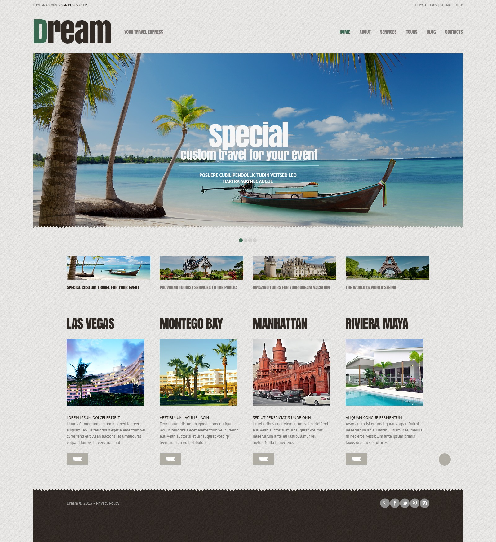 Travel agency responsive wordpress theme 44903 for Best online photo gallery
