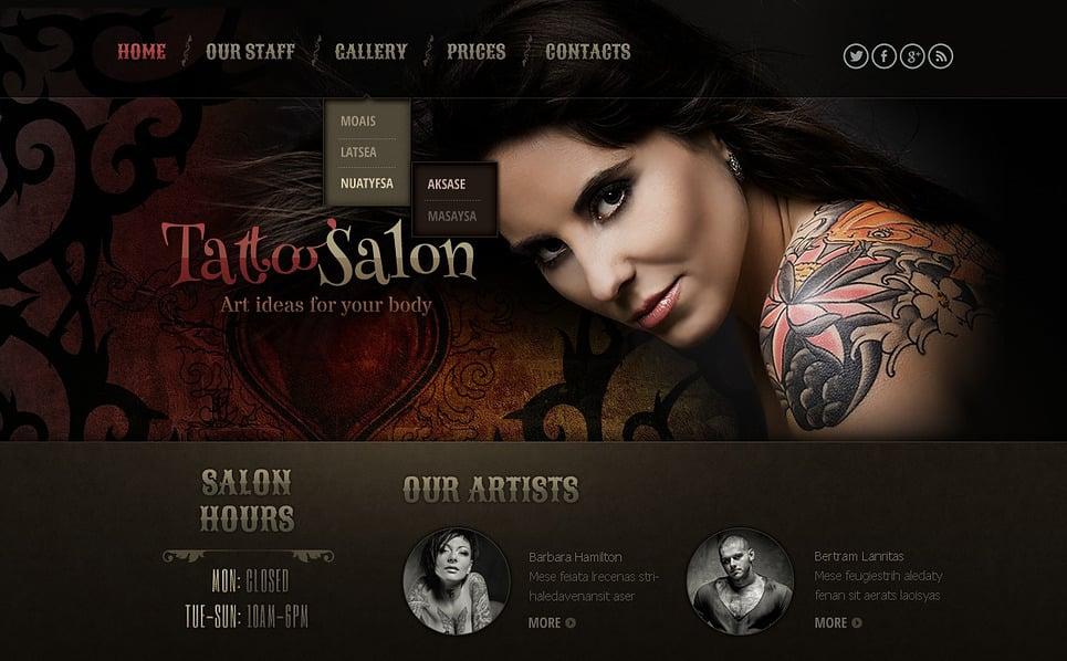 Reszponzív Tetováló szalonok Weboldal sablon New Screenshots BIG