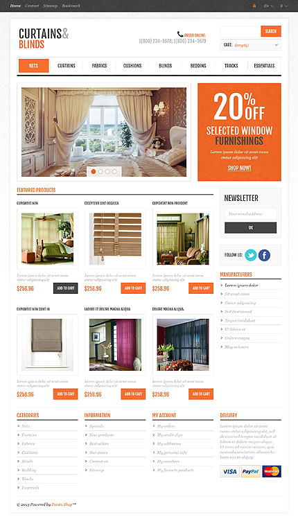 ADOBE Photoshop Template 45020 Home Page Screenshot
