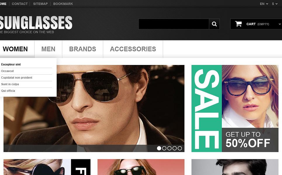 Responsive Gözlük  Prestashop Teması New Screenshots BIG