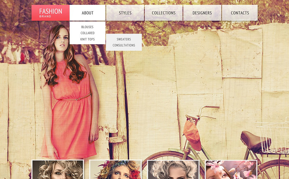 Website Vorlage für Bekleidung  New Screenshots BIG